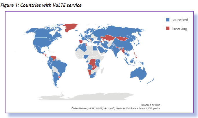 Countries with VoLTE
